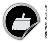 clean brush icon   round vector ... | Shutterstock .eps vector #287812889