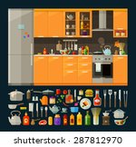 Cooking Icons Set. Modern...