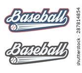 vintage baseball label and... | Shutterstock .eps vector #287814854