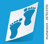sticker with footprint icon ...