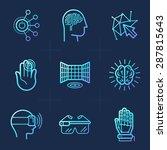 vector set of icons in trendy... | Shutterstock .eps vector #287815643