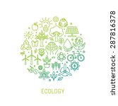 vector ecology illustration... | Shutterstock .eps vector #287816378