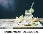 refreshing chilled coconut... | Shutterstock . vector #287820326