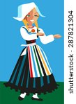 scandinavian girl in a... | Shutterstock .eps vector #287821304