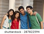 group portrait of college... | Shutterstock . vector #287822594