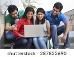 group of friends using laptop | Shutterstock . vector #287822690