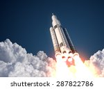 space launch system takes off.... | Shutterstock . vector #287822786