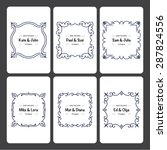 set of 6 wedding invitation... | Shutterstock .eps vector #287824556