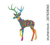 abstract illustration of a deer ... | Shutterstock .eps vector #287828060
