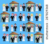 married couples with or without ... | Shutterstock .eps vector #287829368