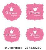 princess crown frame vector... | Shutterstock .eps vector #287830280