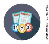 bingo. flat icon for mobile and ... | Shutterstock .eps vector #287835968