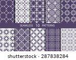 set of ten vector seamless...   Shutterstock .eps vector #287838284