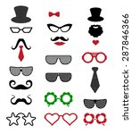 hipster retro vintage icon set. ... | Shutterstock .eps vector #287846366