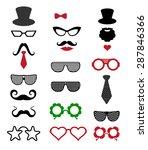 hipster retro vintage icon set. ... | Shutterstock .eps vector #287846366