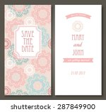 vintage vector card templates.... | Shutterstock .eps vector #287849900