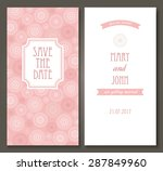 vintage vector card templates.... | Shutterstock .eps vector #287849960