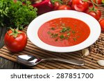 soup  tomato  tomato soup. | Shutterstock . vector #287851700