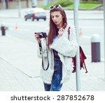 young fashion woman... | Shutterstock . vector #287852678