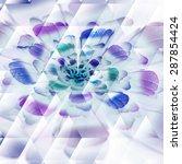 digitally recreated watercolor... | Shutterstock .eps vector #287854424