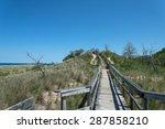 the dunes at new buffalo beach | Shutterstock . vector #287858210