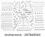 doodles border vector arrow... | Shutterstock .eps vector #287868560