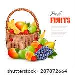 Fresh Color Fruit In Basket....