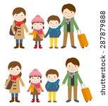 family trip   winter | Shutterstock .eps vector #287879888