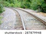 Simple Railroad Tracks Leading...