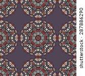seamless pattern ethnic style.... | Shutterstock .eps vector #287886290
