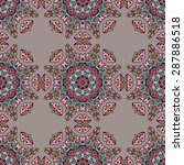 seamless pattern ethnic style.... | Shutterstock .eps vector #287886518