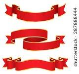 celebration curved ribbons... | Shutterstock .eps vector #287888444