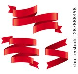 celebration curved ribbons... | Shutterstock .eps vector #287888498