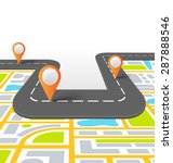 road vector information... | Shutterstock .eps vector #287888546