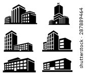 buildings icons vector | Shutterstock .eps vector #287889464