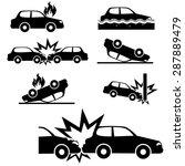car insurance icons set.vector | Shutterstock .eps vector #287889479
