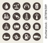 oil industry icon set | Shutterstock .eps vector #287896589