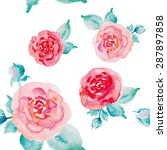 floral seamless pattern of... | Shutterstock . vector #287897858