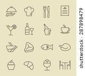 restaurant icon set | Shutterstock .eps vector #287898479