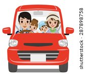 family car driving   front view | Shutterstock .eps vector #287898758