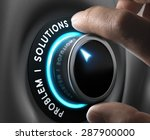 solution switch positioned on... | Shutterstock . vector #287900000