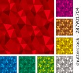 Seamless Patterns Set  Triangl...