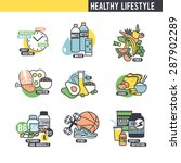 the healthy lifestyle concept.  ... | Shutterstock .eps vector #287902289