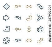arrows web icons set | Shutterstock .eps vector #287903204