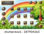 game template with rainbow and... | Shutterstock .eps vector #287904263