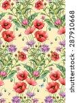 wild flowers. persian... | Shutterstock . vector #287910668
