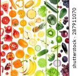 fresh fruit and vegetable.... | Shutterstock . vector #287911070