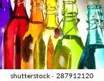 Glass Bottles Of Different...