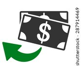 cashback icon from business... | Shutterstock .eps vector #287914469
