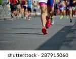 marathon runners   Shutterstock . vector #287915060